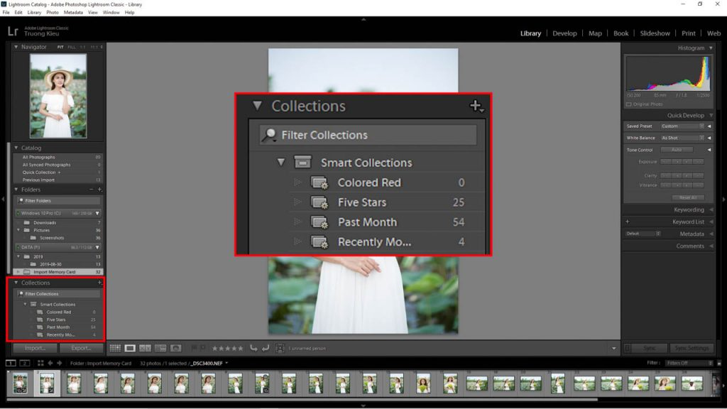 Collections in Lightroom Classic