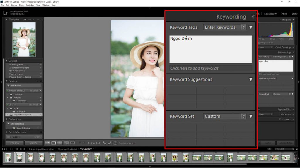 Keyword lightroom
