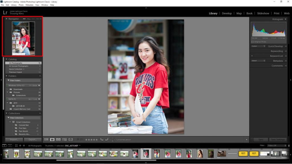 Navigator in Lightroom